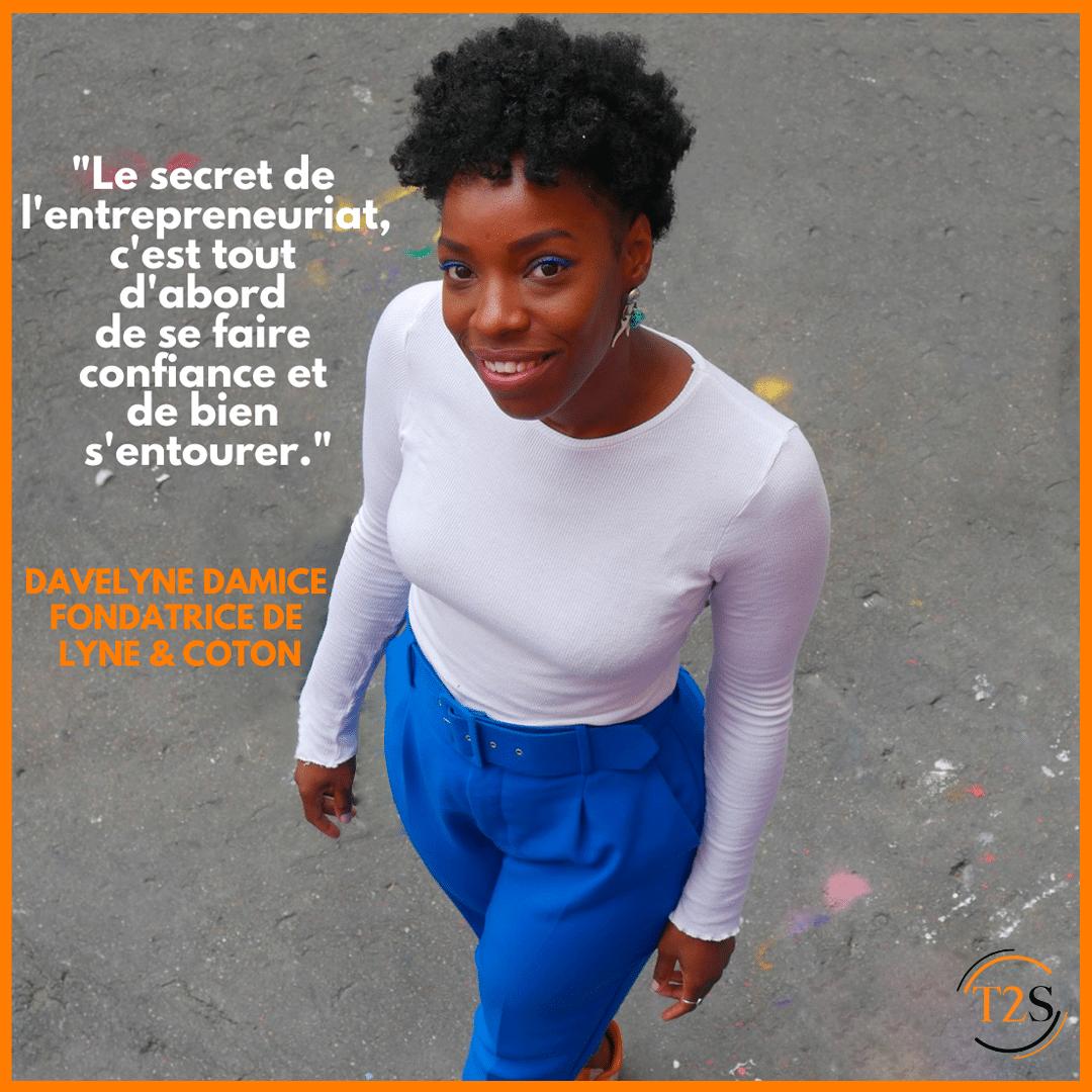 Portrait entrepreneur : Davelyne Damice, fondatrice de Lyne & Coton
