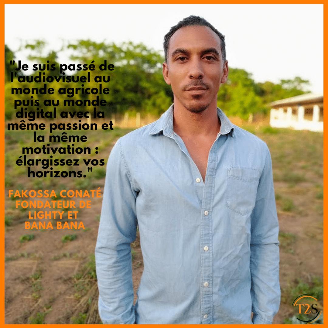 Portrait entrepreneur : Fakossa Conaté, fondateur de Lighty et Bana Bana.
