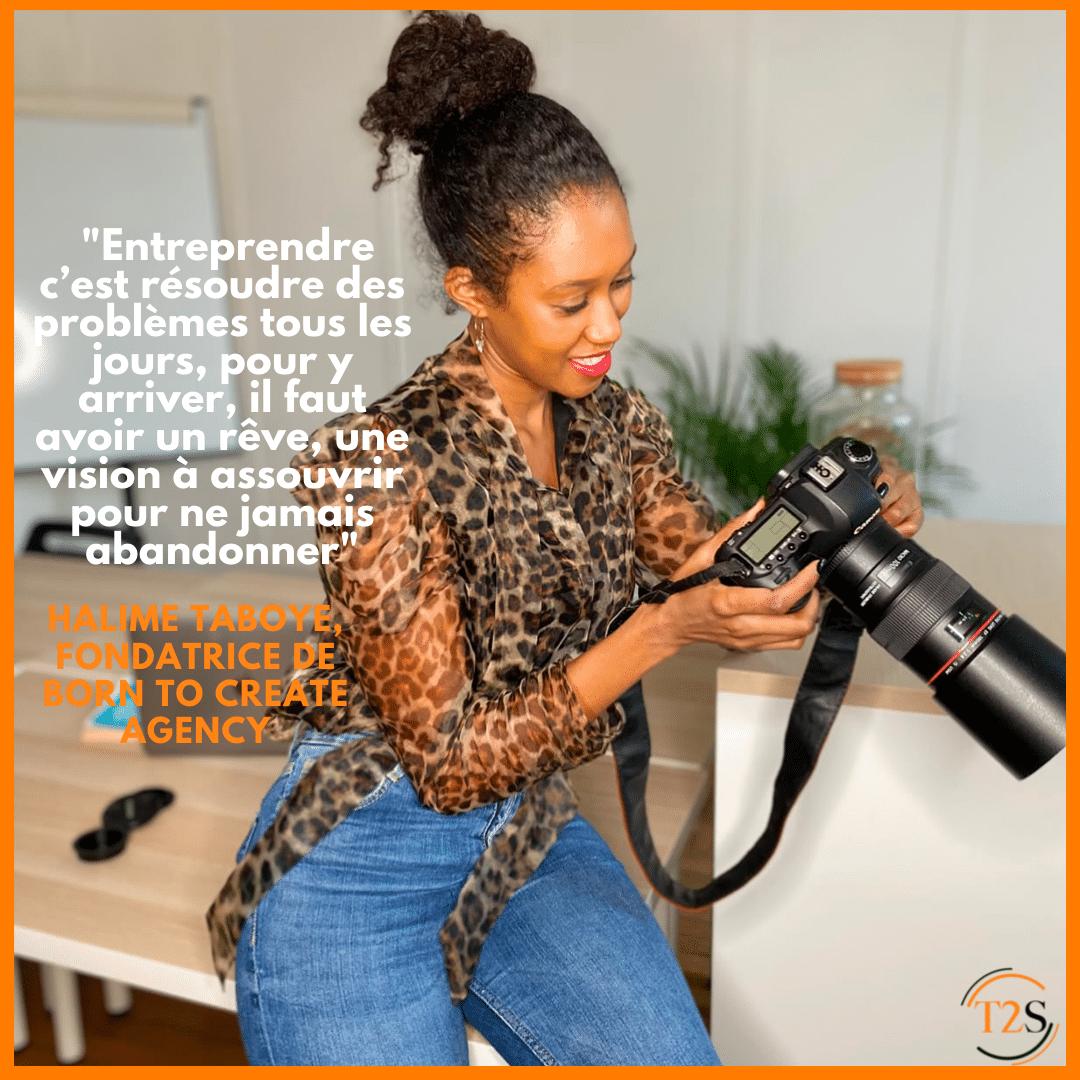Portrait entrepreneur : Halime Taboye, fondatrice de Born to Create.